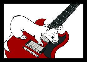 Blacktip and guitar