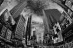 Times Square black n white