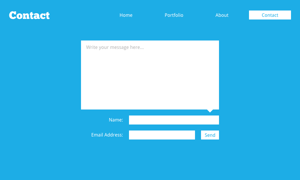 Website Contact Form by spiceofdesign on DeviantArt