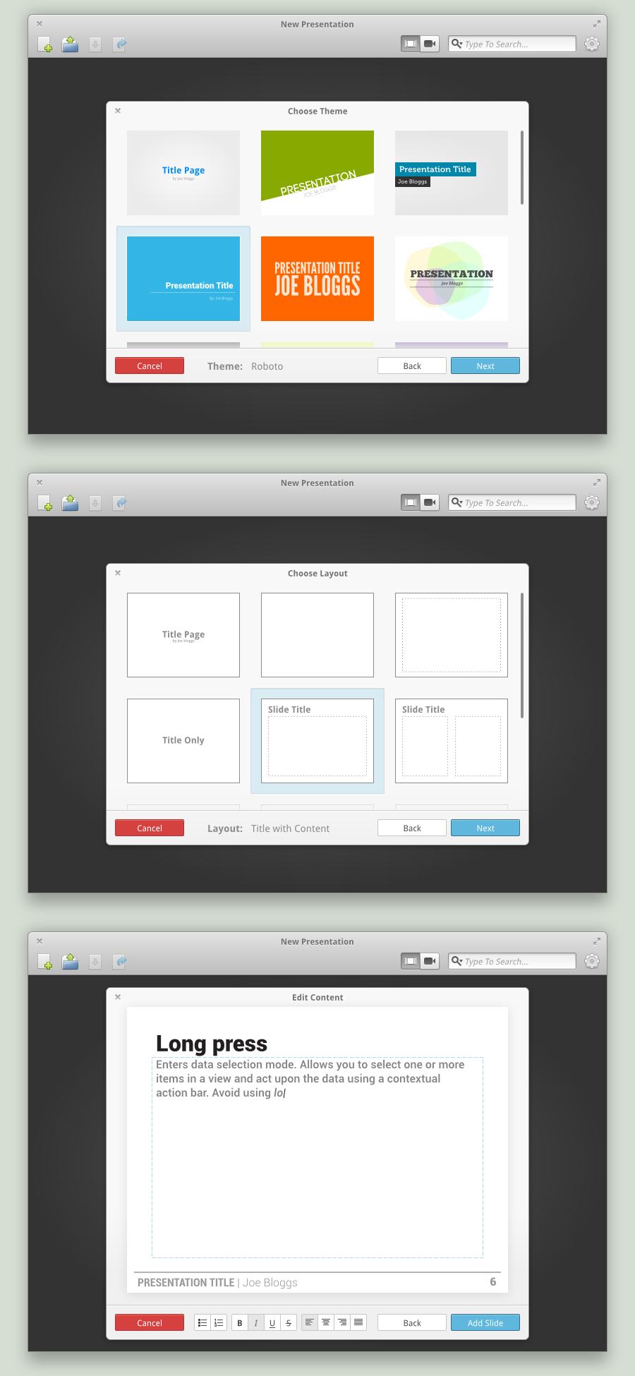 Presentation Concept Slide Editor by spiceofdesign