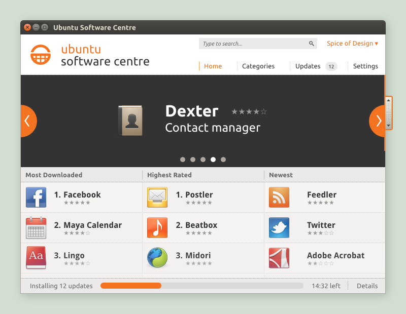 Ubuntu Software Centre Concept