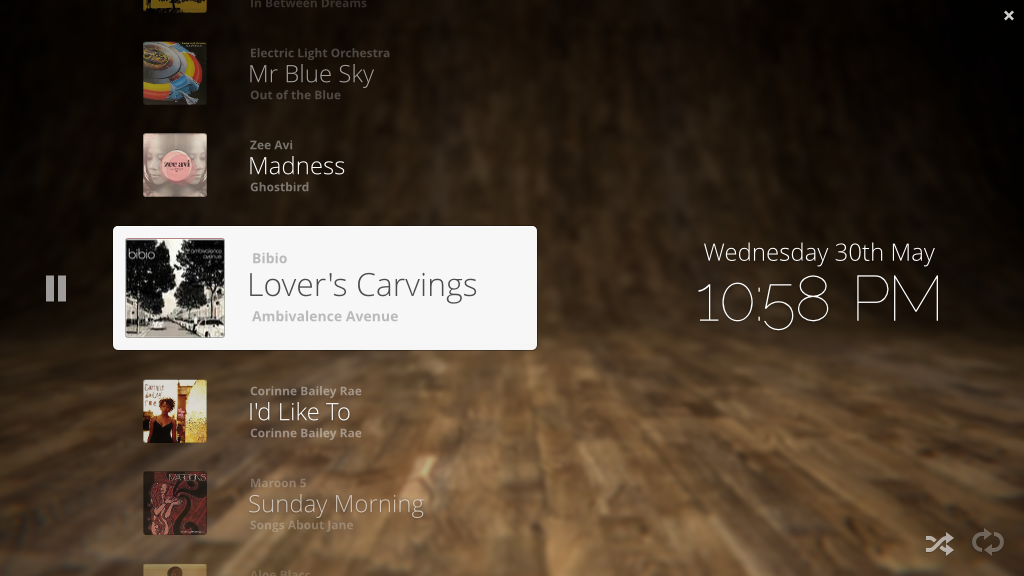 Music Player Party Interface by spiceofdesign