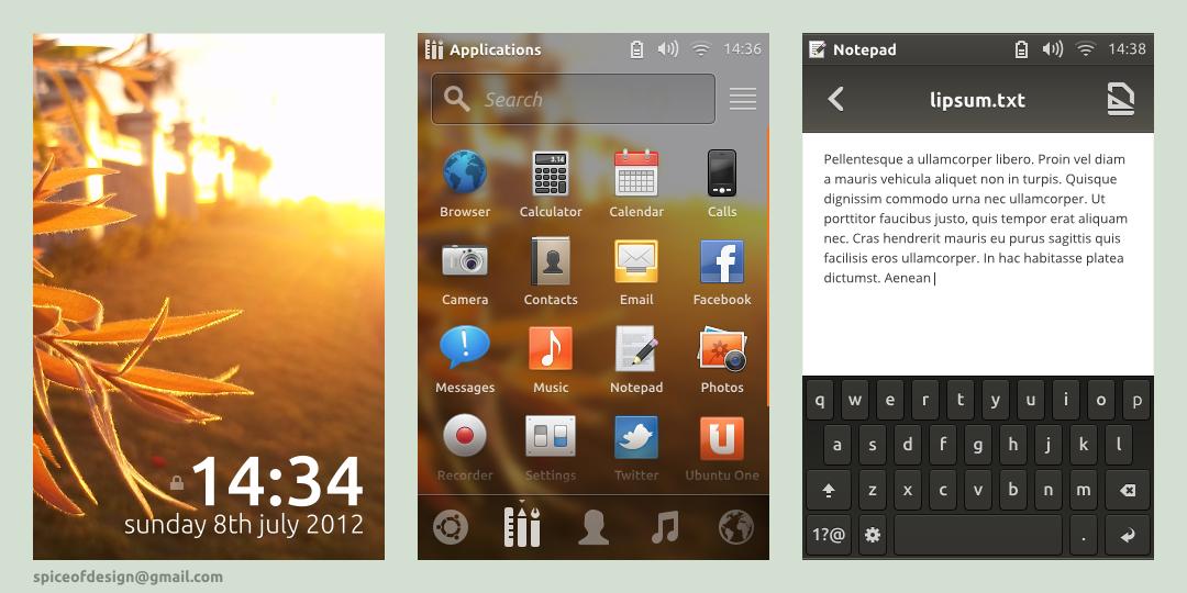 Ubuntu Phone by spiceofdesign