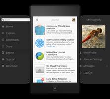 elementaryos.org mobile website navigation concept by spiceofdesign