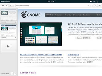 Gnome App Sketches: Tablet Browser Home