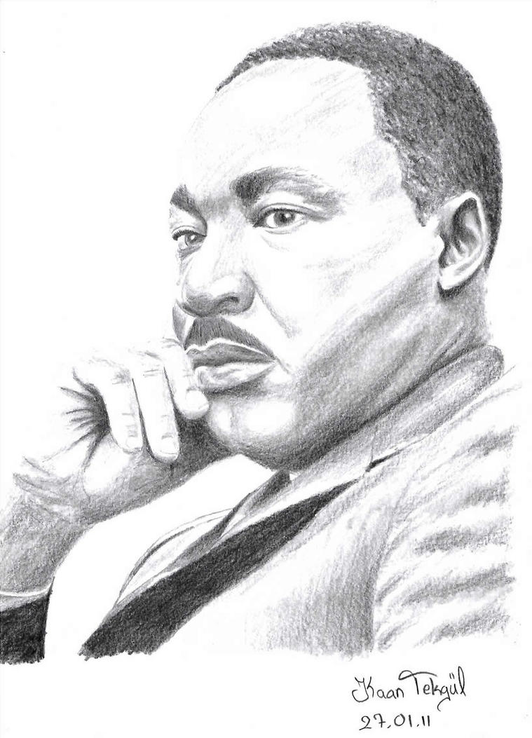 steps to draw martin luther king jr