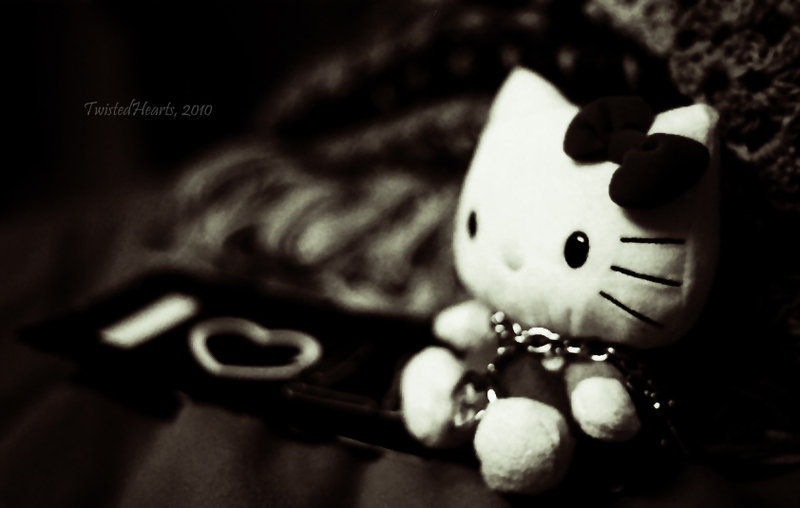 CUTE HELLO KITTY WALLPAPER BLACK WHITE By AlekSakura