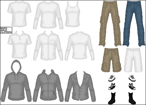 Basic Male Clothing by Taiko554