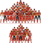 All Super Sentai and Power Rangers Reds