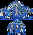 All Super Sentai and Power Rangers Blues