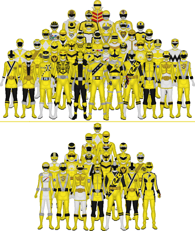 All Super Sentai and Power Rangers Yellows