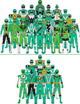 All Super Sentai and Power Rangers Greens