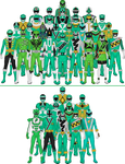 All Super Sentai and Power Rangers Greens