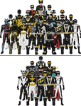 All Super Sentai and Power Rangers Blacks