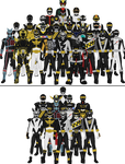 All Super Sentai and Power Rangers Blacks
