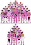 All Super Sentai and Power Rangers Pinks