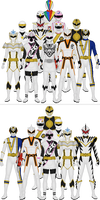 All Super Sentai and Power Rangers Whites