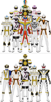 All Super Sentai and Power Rangers Whites
