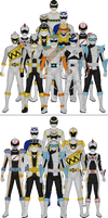 All Super Sentai and Power Rangers Silvers
