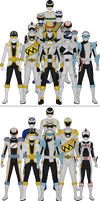 All Super Sentai and Power Rangers Silvers by Taiko554
