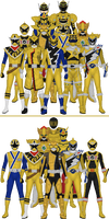 All Super Sentai and Power Rangers Golds