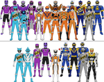 All Super Sentai and Power Rangers Assorted Colors