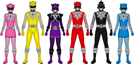 Rumbling Squadron Boukenger: Requested: Power Rangers ESP By Taiko554 On DeviantArt