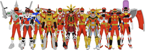 All Red Ranger Battlizers