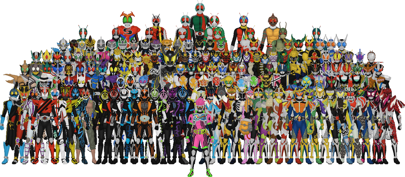 Http Taiko554 Deviantart Com Art All Kamen Riders 400586383
