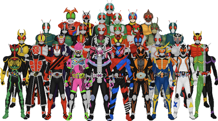 All Kamen Rider Leads by Taiko554