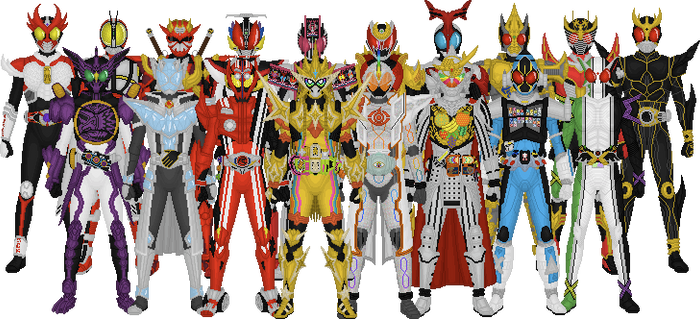 All Kamen Rider Leads, Final Form Version by Taiko554
