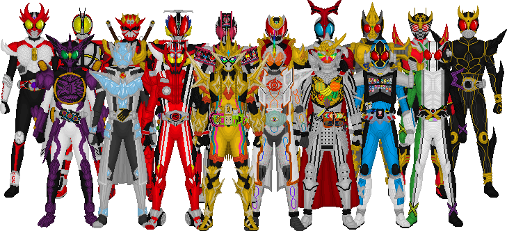 All Kamen Rider Leads, Final Form Version by Taiko554 on DeviantArt