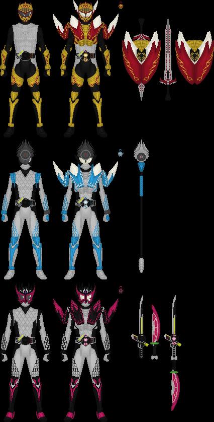 Kamen Rider Gaim's Apple Riders