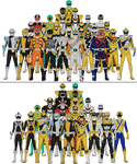 All Super Sentai and Power Rangers Sixths