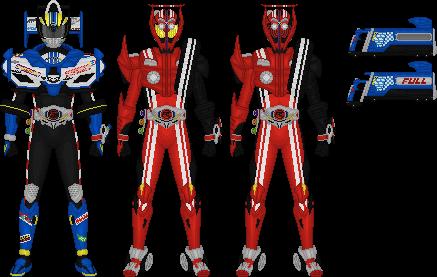 Kamen Rider Drive, Types Formula and Tridoron by Taiko554