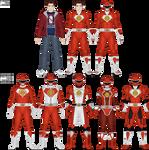 Yasei Sentai Keitouranger, Fire Rangers