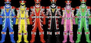 Lavender Ranger's Ryuusouger Mecha by LavenderRanger on