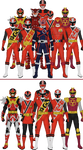 All Super Sentai and Power Rangers 'Other Reds'