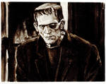 Frankenstein Charcoal Study
