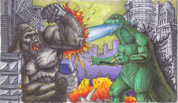kong vs. godzilla by bloodedemon