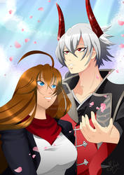 Mitsunari and Nina