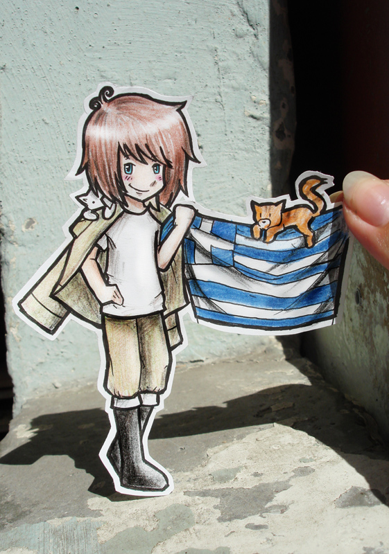 Greece - Paper Child by Annuhka