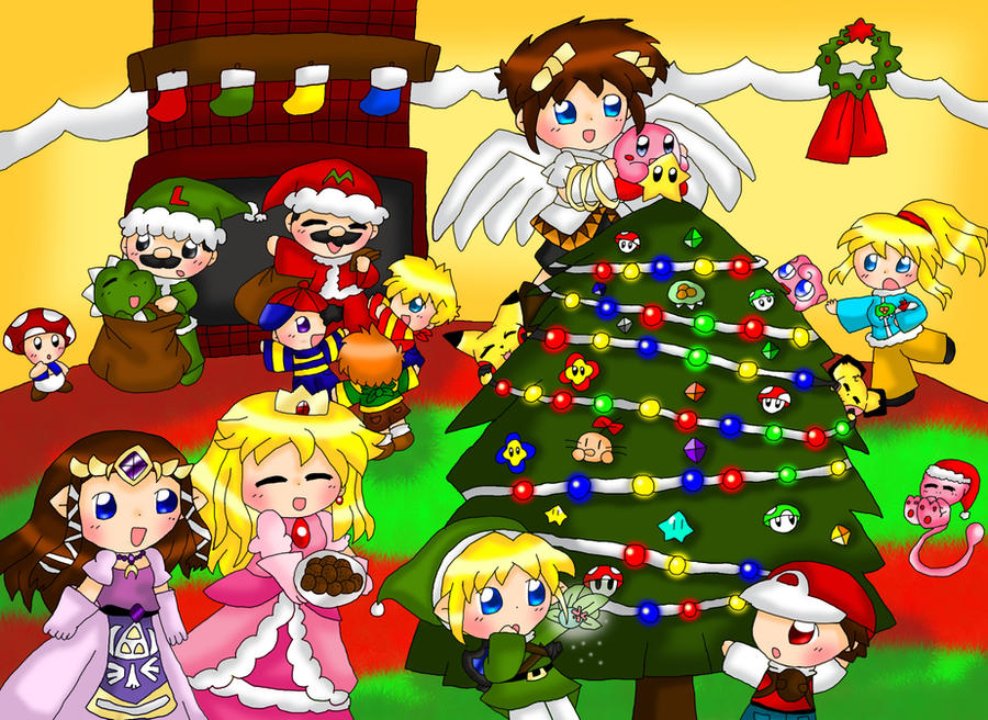 Nintendo Christmas.Nintendo Christmas Contest By Purplemagechan On Deviantart