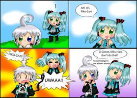 Vocaloid Comic: Piko-San's Surpise by purplemagechan
