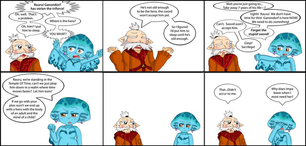 Zelda comic: timing mishap by purplemagechan