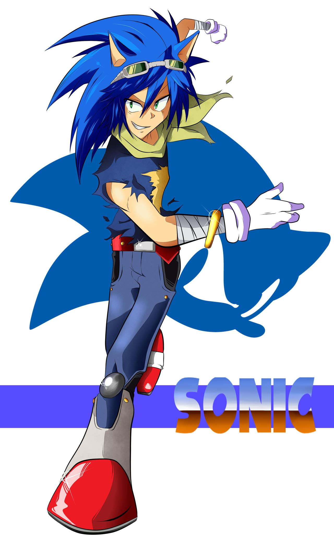 Human Sonic The Hedgehog By Saikoaweonaoxxlll On Deviantart