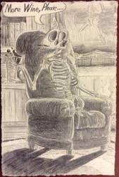 Pretentious Skeleton's Study by philosopherraptor