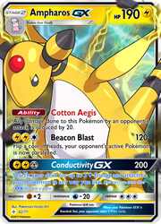 Ampharos GX Card (Gift For Tails19950) by KryptixDesigns