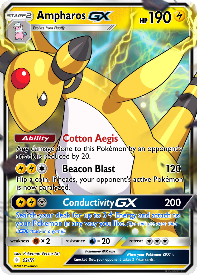 Ampharos Gx Card Gift For Tails19950 By Kryptixdesigns On Deviantart