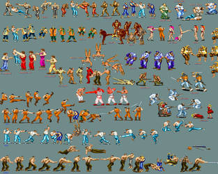 Final fight sprite sheet by cheesyniblets